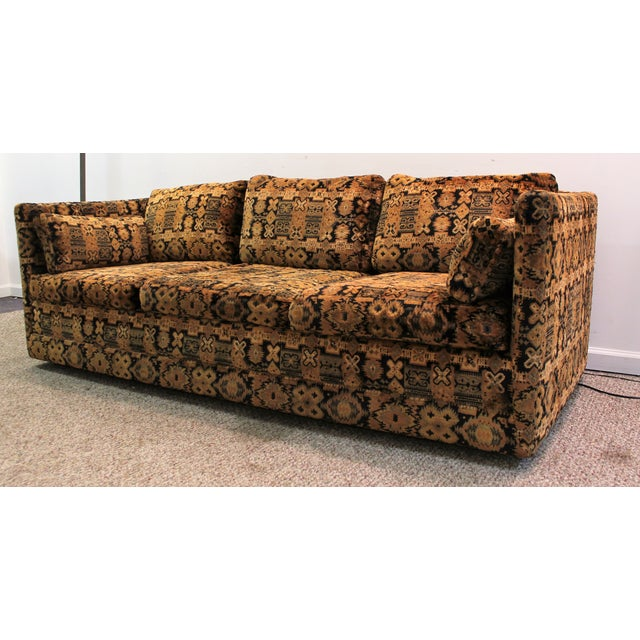Mid Century Milo Baughman Forecast Furniture Sofa - Image 2 of 11