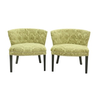 Art Deco Style Slipper Chairs- A Pair