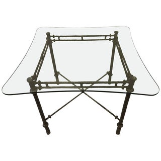 Brutalist Cast Aluminum Table In The Manner Of Alberto Giacometti