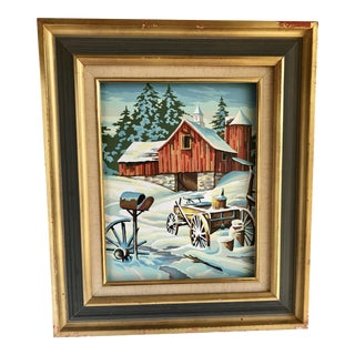 Vintage Farmhouse Paint by Number Painting