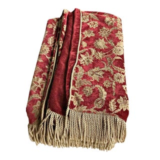 Velvet Floral Red and Gold Throw