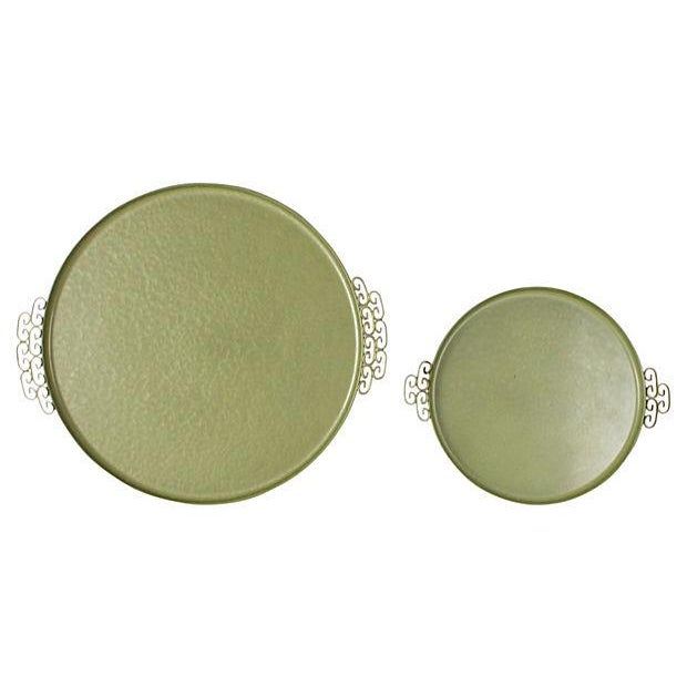 Green Kyes Pasadena Round Trays - Pair - Image 3 of 5