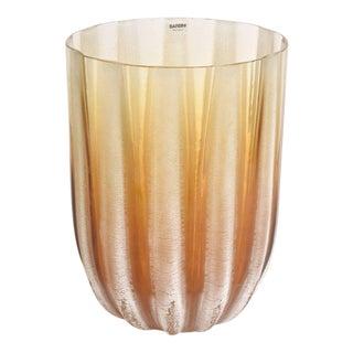 Italian Murano Barbini Acid Etched Monumental Glass Vase