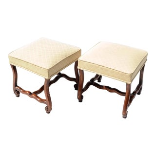 French Os De Mouton Ottomans Stools ,A Pair Of