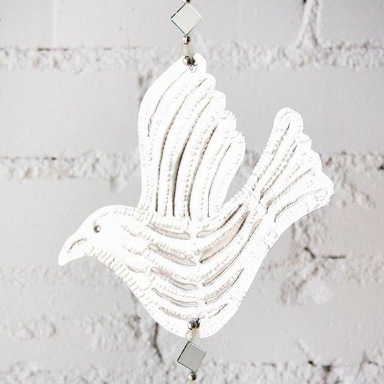 Hanging Mirrored Bird Aluminum Ornament - Image 2 of 3