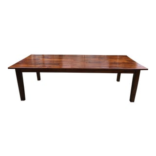 Crate & Barrel Basque Honey Extra Long Table