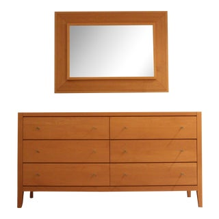 Baronet Mooreau Maple Dresser & Mirror - a Pair