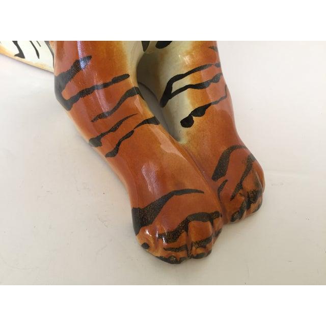 Stunning Italian Ceramic Tiger - Image 5 of 8