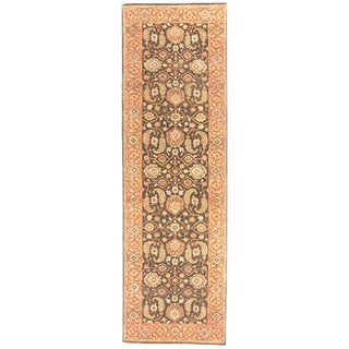 Hand-Knotted Indian Runner Rug, 3'x 10'