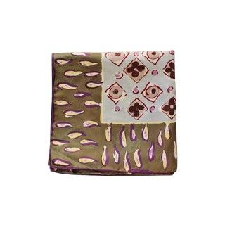 Bottega Veneta Feminine Olive & Purple Silk Scarf