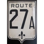 Image of Vintage French Road Sign - Route. 27A