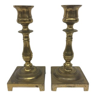 Brass Candlesticks - A Pair