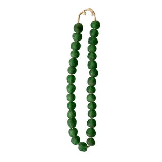 Strand of Green Glass Trade Beads