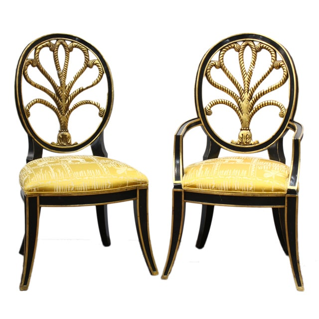 Hollywood Regency Elephant Motif Chairs - Set of 8 - Image 2 of 6