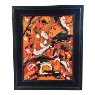 Abstract Orange Original Painting