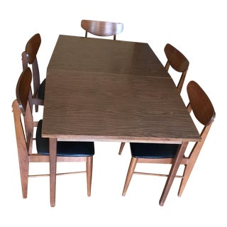 Stanley Furniture Mid-Century Modern Dining Table & Chairs