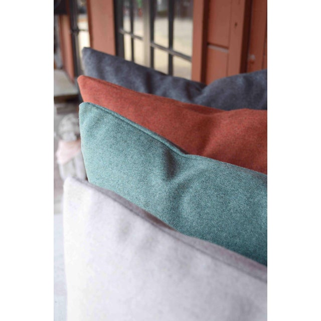 Italian Orange Sustainable Wool Pillow - Image 3 of 6