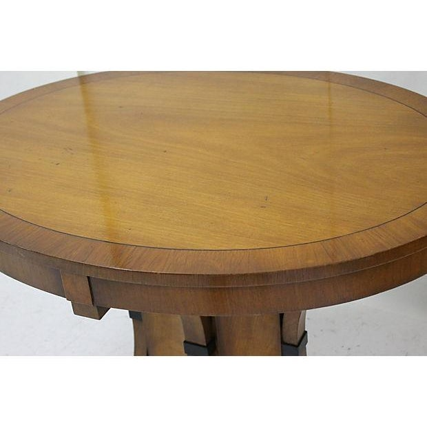 Vintage Cherry Oval Center Table - Image 2 of 4