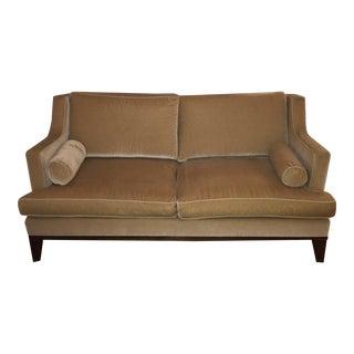 Custom Beige Mohair Velvet Sofa