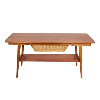 Danish Modern Coffee Table / Sewing Table
