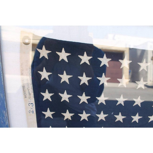 Image of Early 20th Century 48 Star Ships Framed Flag