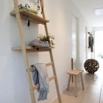 Image of Teak Nomad Ladder With 4 Hooks - Retail $425