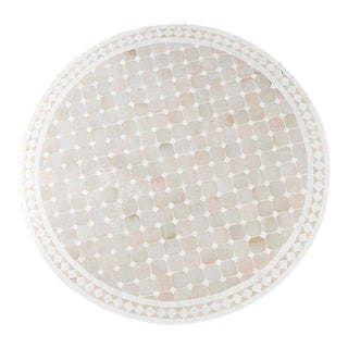 Large Moroccan Mosaic Tile Table in Beige