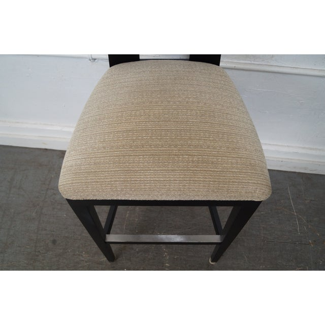 Donghia Margarita Upholstered Bar Stool Chairs- A Pair - Image 7 of 10