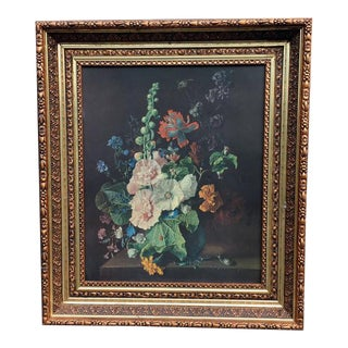 Floral Print - Copper Colored Frame