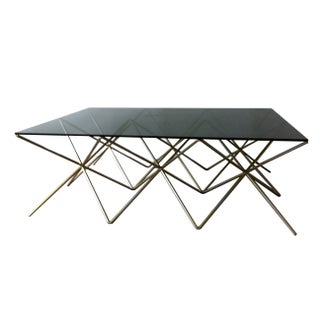 Wire Steel & Glass Coffee Table