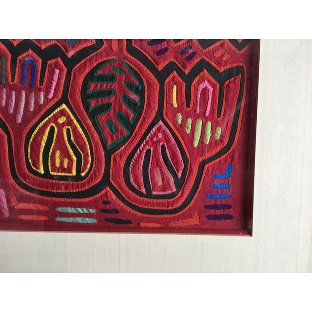 Vintage Indian Mola Framed Textile Art - Image 7 of 9
