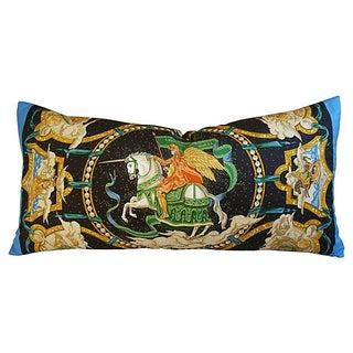 """Hermes """"Cavaliers Des Nuages"""" Silk Scarf Pillow"""