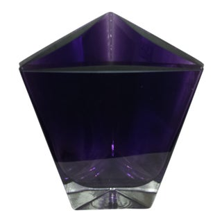 LSA Poland Art Glass Amethyst Purple Vase