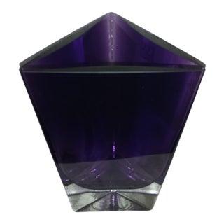 LSA Poland Art Glass Amethyst Purple Vase