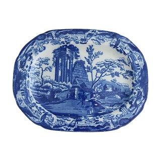 "1820s English Transferware ""Abbey Ruins"" Platter"