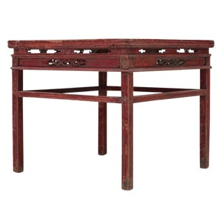 Sarreid Ltd. C. 1950 Qing Dynasty Pine Dining Table