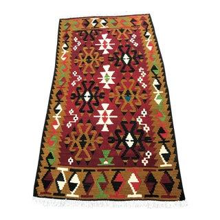 Vintage Turkish Kilim Rug - 3'1'' x 5'7''