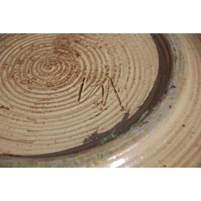 Mid-Century William Wyman Style Pottery Charger - Image 8 of 11