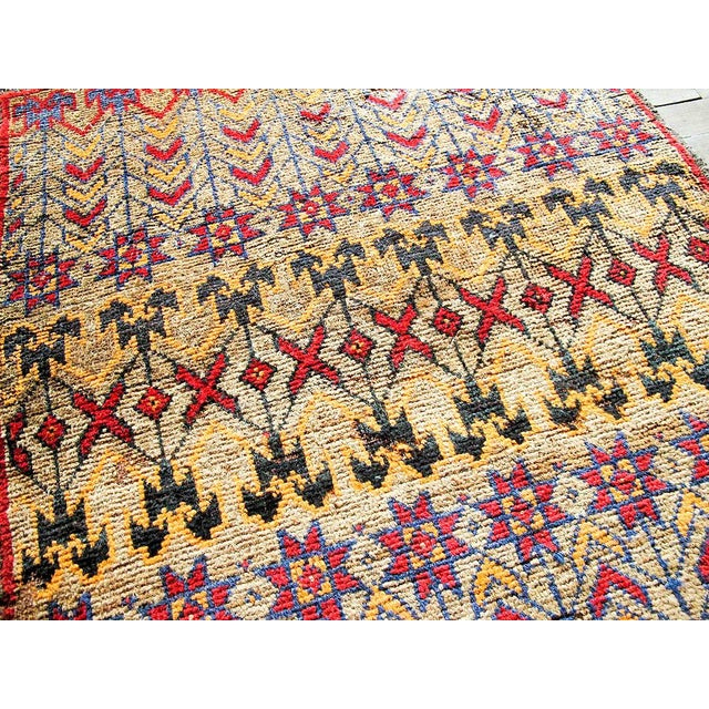 Vintage Brown Persian Tribal Rug - 2′8″ × 3′5″ - Image 3 of 6