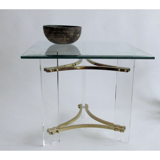 Image of Mid-Century Charles Hollis Jones Lucite Side Table