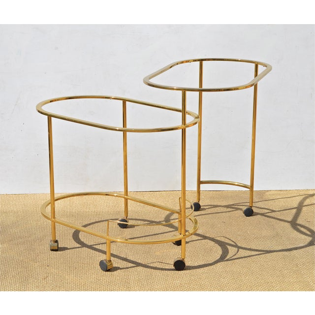 Brass & Glass Bar Cart - Image 7 of 9