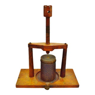 Handmade Wooden Primitive Fruit Press