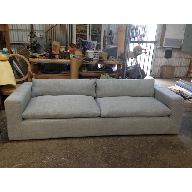 Reupholstered Restoration Hardware Petite Cloud Track Arm