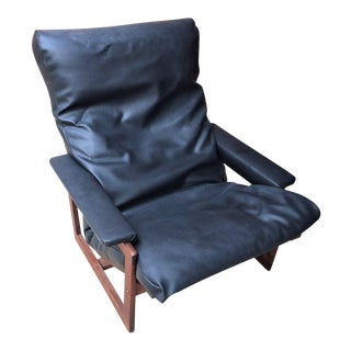 Vintage Lennart Bender Danish Modern Lounge Chair and Ottoman
