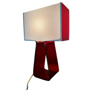 Pablo Red Tube Top Table Lamp