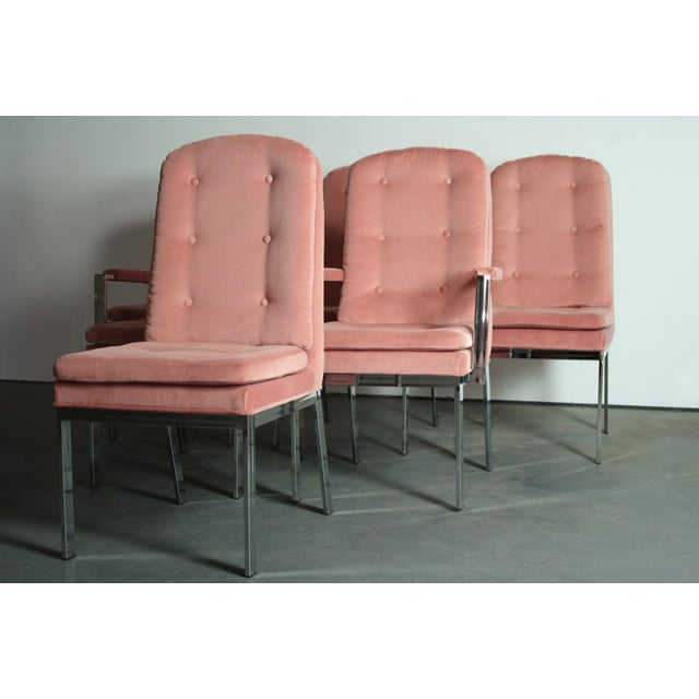 Milo Baughman for DIA Blush Dining Chairs - S/6 - Image 3 of 12