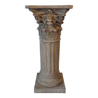 Faux-Marble Ancient World Decorative Column