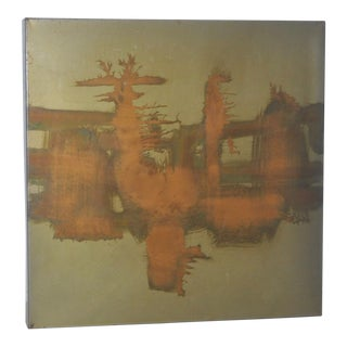 Silvio Giovenetti Abstract Acid Etched Metal Wall Art