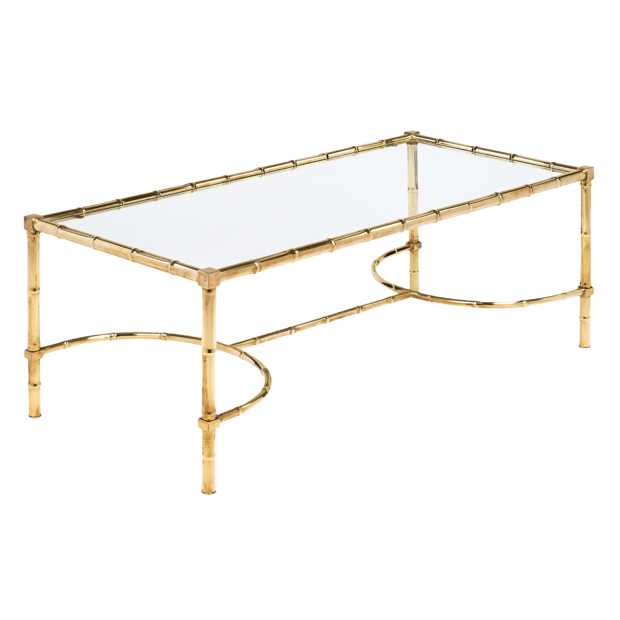 Amazing Maison Bagues Style Bamboo Brass Coffee Table