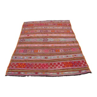 Vintage Turkish Kilim Rug - 5′1″ × 7′8″